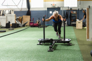 weight sled push WHF Personal Training
